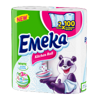EMEKA Kitchen rolls 3-ply White