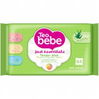 Teo Bebe Wet Wipes Just Essentials Tender Aloe 64pcs